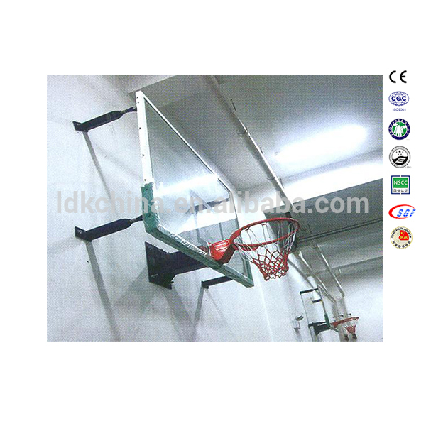 Indoor Fixed Height Glass Wall Mounted Basketball Hoop