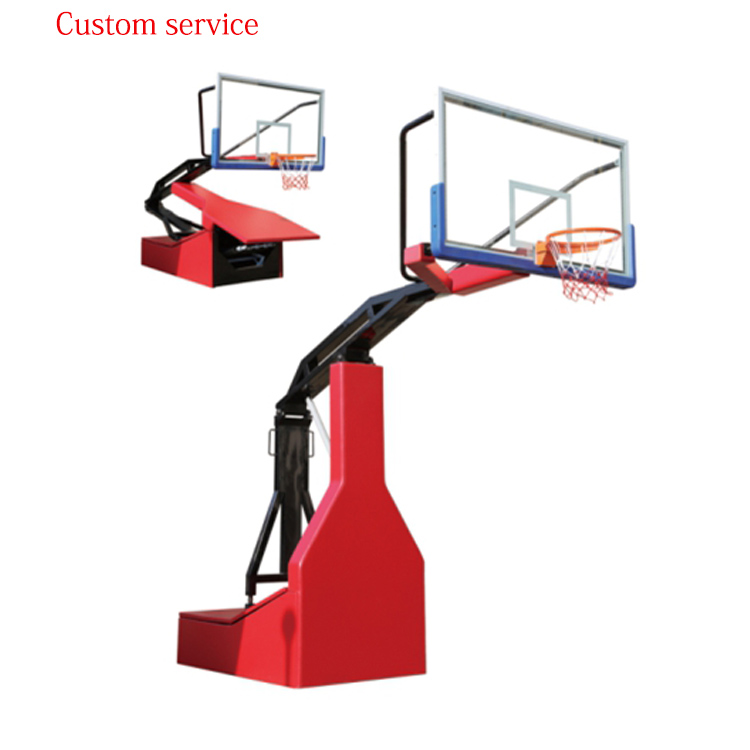 Indoor customizable Assisted Portable steel Basketball Stand/Hoops for sale