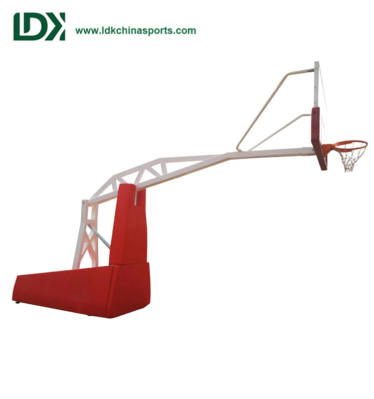 Certified Sports Equipment Indoor Hydraulic Portable Basketball Hoop For Sale