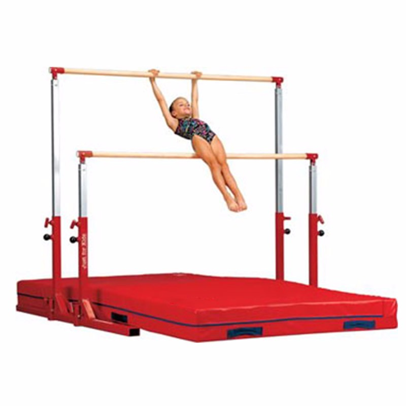 Adjustable 1.3-1.7m horizontal bar gymnastics equipment for kids