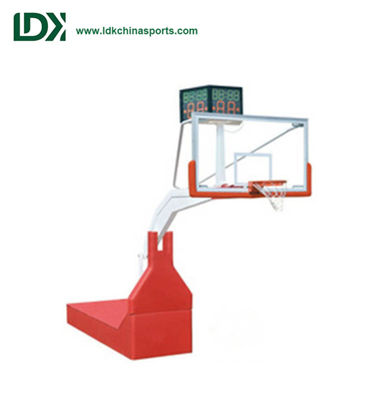 International Certification Competition Portable Hydraulic Basketball Stand Folding