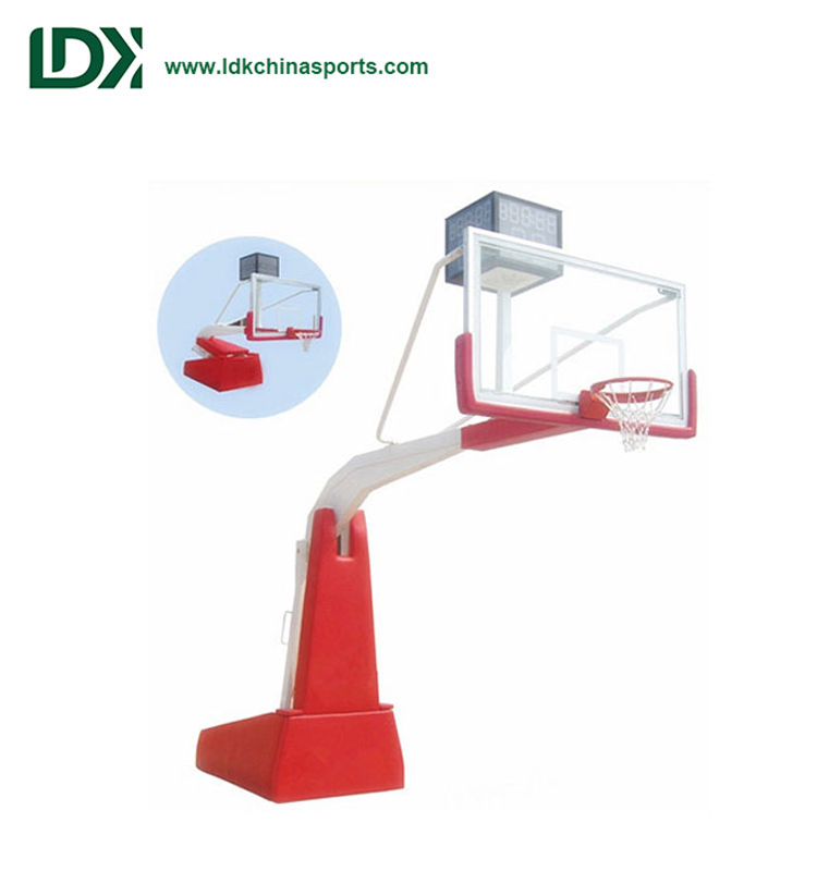 Electric Hydraulic Basketball Hoop Movable Basketball Stand Equipment