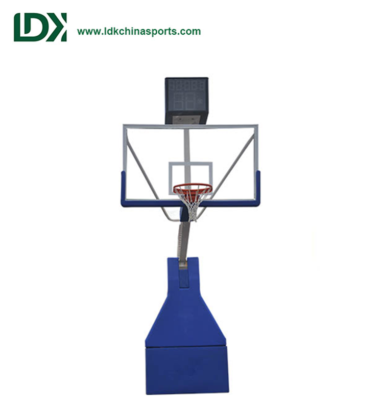 Hot Sale Electric Hydraulic Competition Portable Basketball Backstops Stand