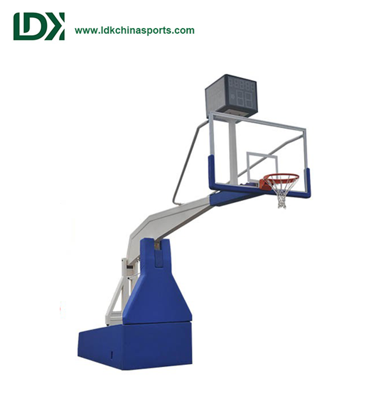 2018 Professional Portable Hydraulic Basketball Hoop Stand For Competition
