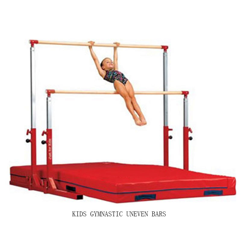 Kids Gymnastics Training Asymmetrical Bars Height Adjustable For Sale