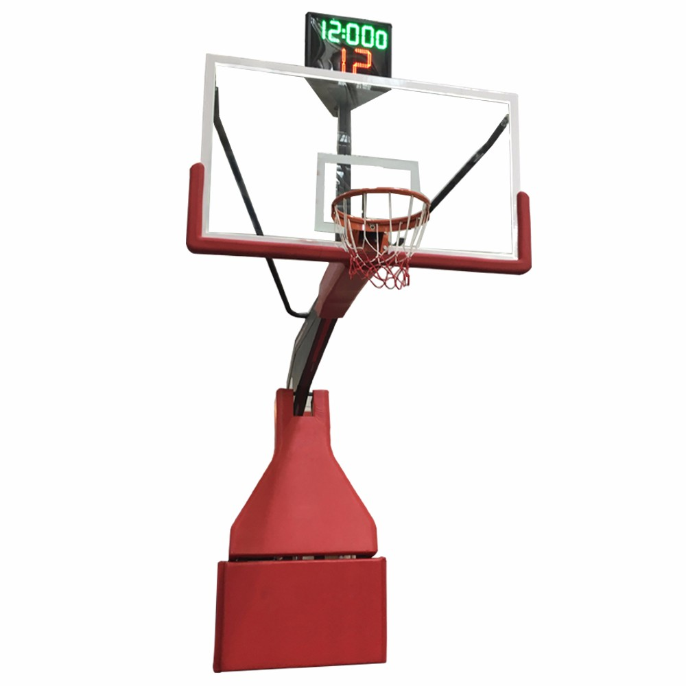 Portable Basketball System Electric Hydraulic Basketball Stand Retractable Basketball Goal