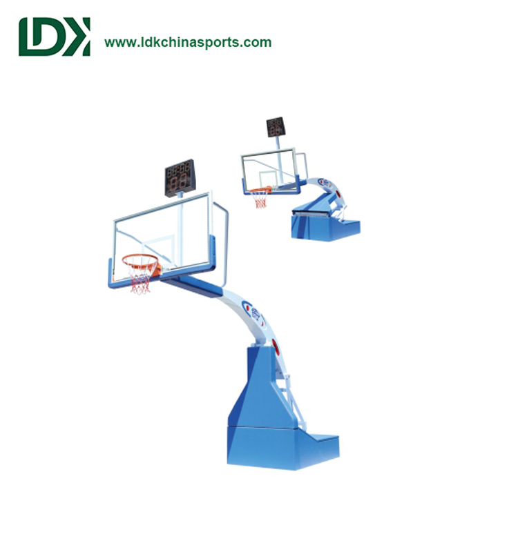 Professional Customized International Certified Portable Electric Hydraulic Basketball Hoop