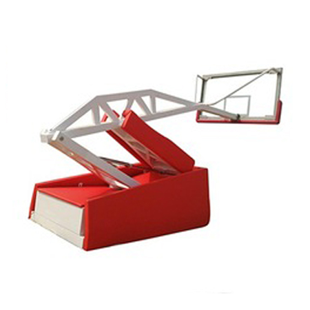 Indoor Hydraulic Basketball System Foldable Basketball Hoop With Wheels