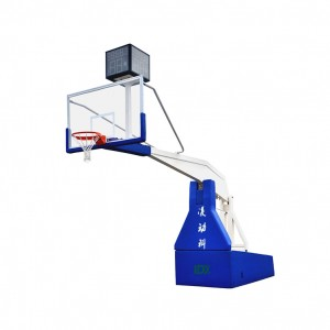 Satış üçün Fiba Professional Basketbol Equipment Electric Hydraulic Basketbol StandHoop