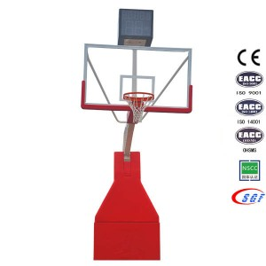 Basketball Equipment Set Electric Hydraulic Folding Basketball Stand