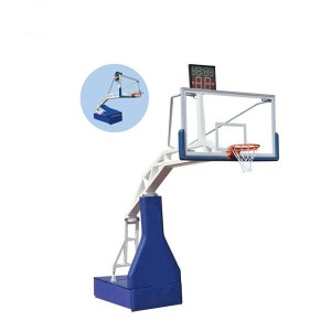 Inside Portable Match Equipment Hydraulic Basketball Hoop Stand