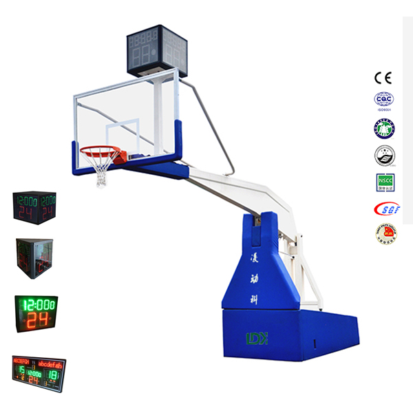 Fiba Professional Basketball Equipment Electric Hydraulic Basketball StandHoop for Sale Featured Image