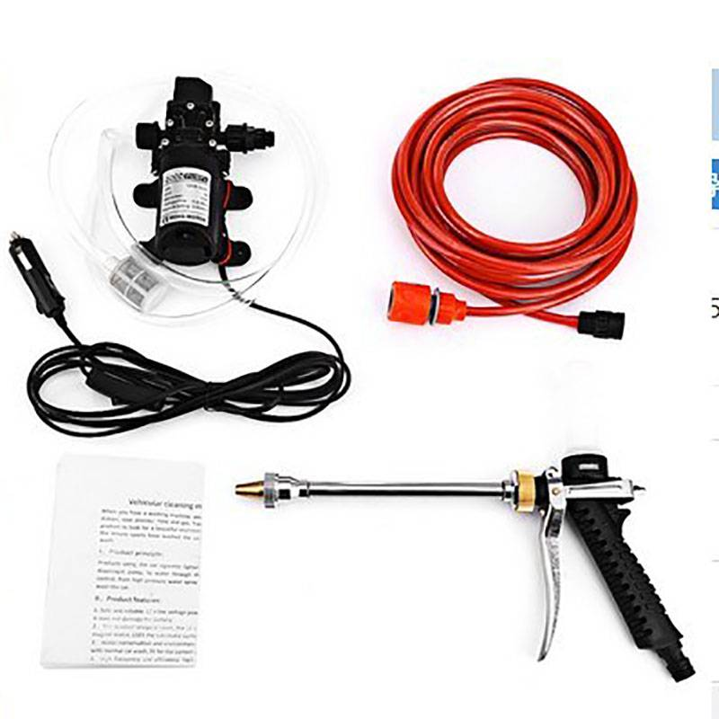 12V75whigh Pressure Car Washer 12V Foam Water Pistol Washing Machine
