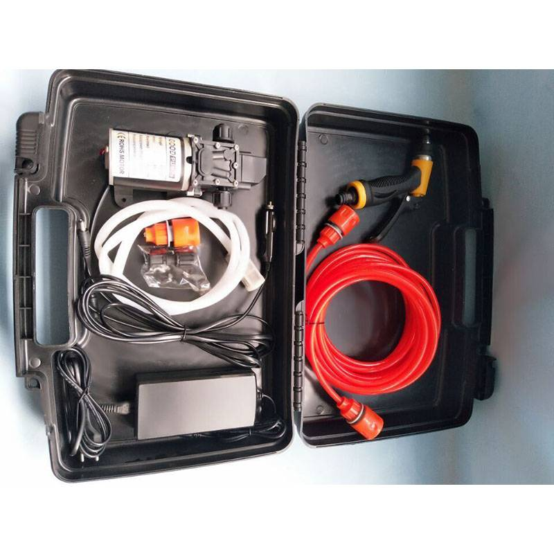 12V100W8lhigh Pressure Car Washer 110vportable Car Washer Dual Purpose Power Supply for Vehicle and Household