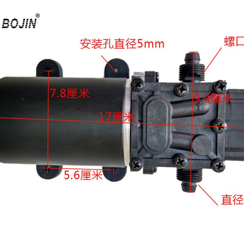12V24vreflux Pumpelectric Sprayer Pumpmetal Motor Water Pumplarge Flow Diaphragm Pump