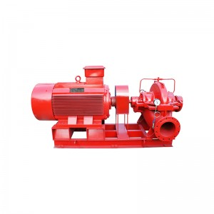horizontal split fire-fighting pump