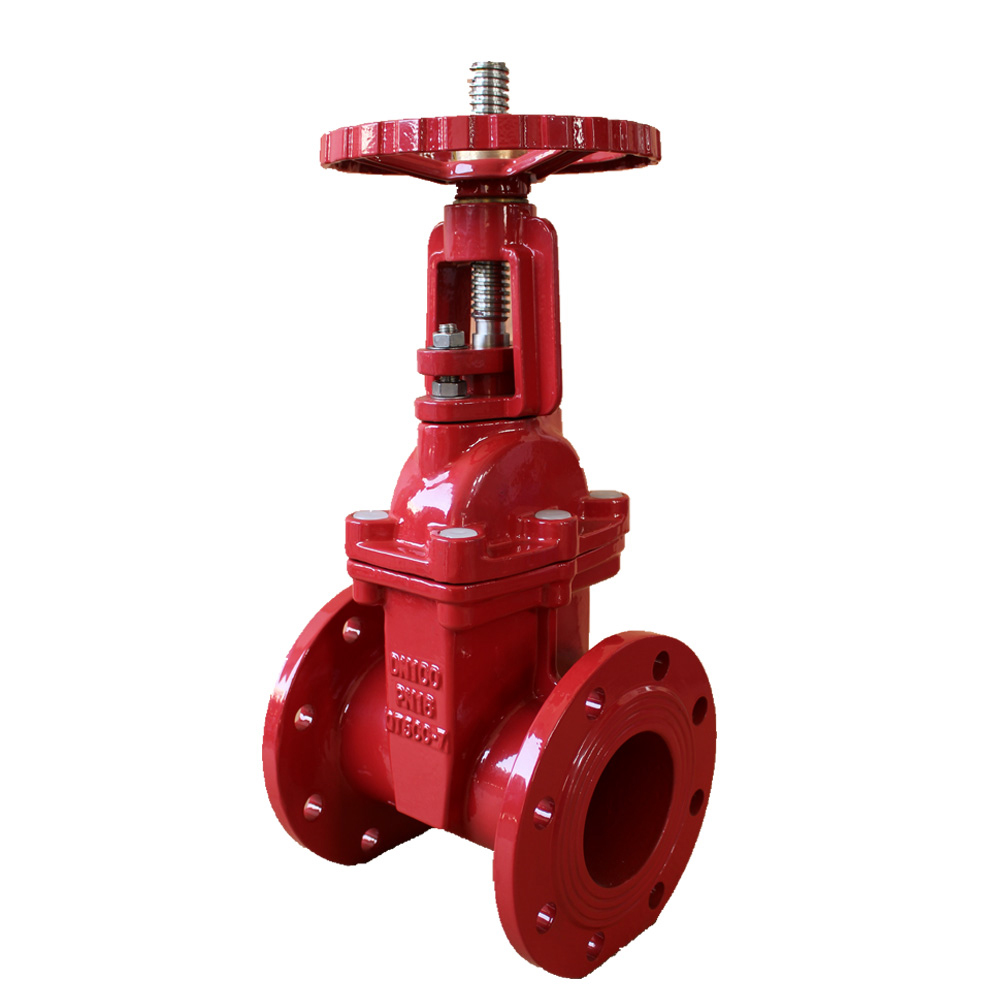 Riser rod elastic seat open rod fire gate valve Featured Image