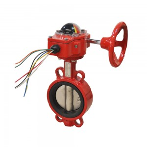 Fire Fighting signal  Wafer Type Butterfly Valve XD371