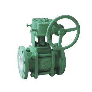 Worm wheel ceramic ball valve