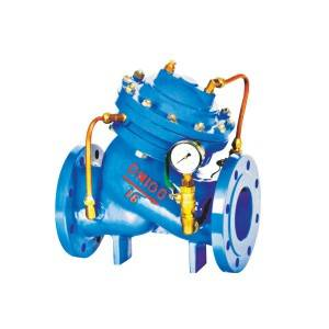 Diaphragm type multifunctional water pump control valve