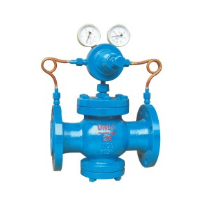 Pilot piston gas pressure reducing valve