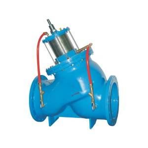 Piston type multifunctional water pump control valve