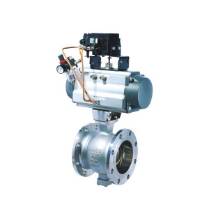 V-flange regulating ball valve
