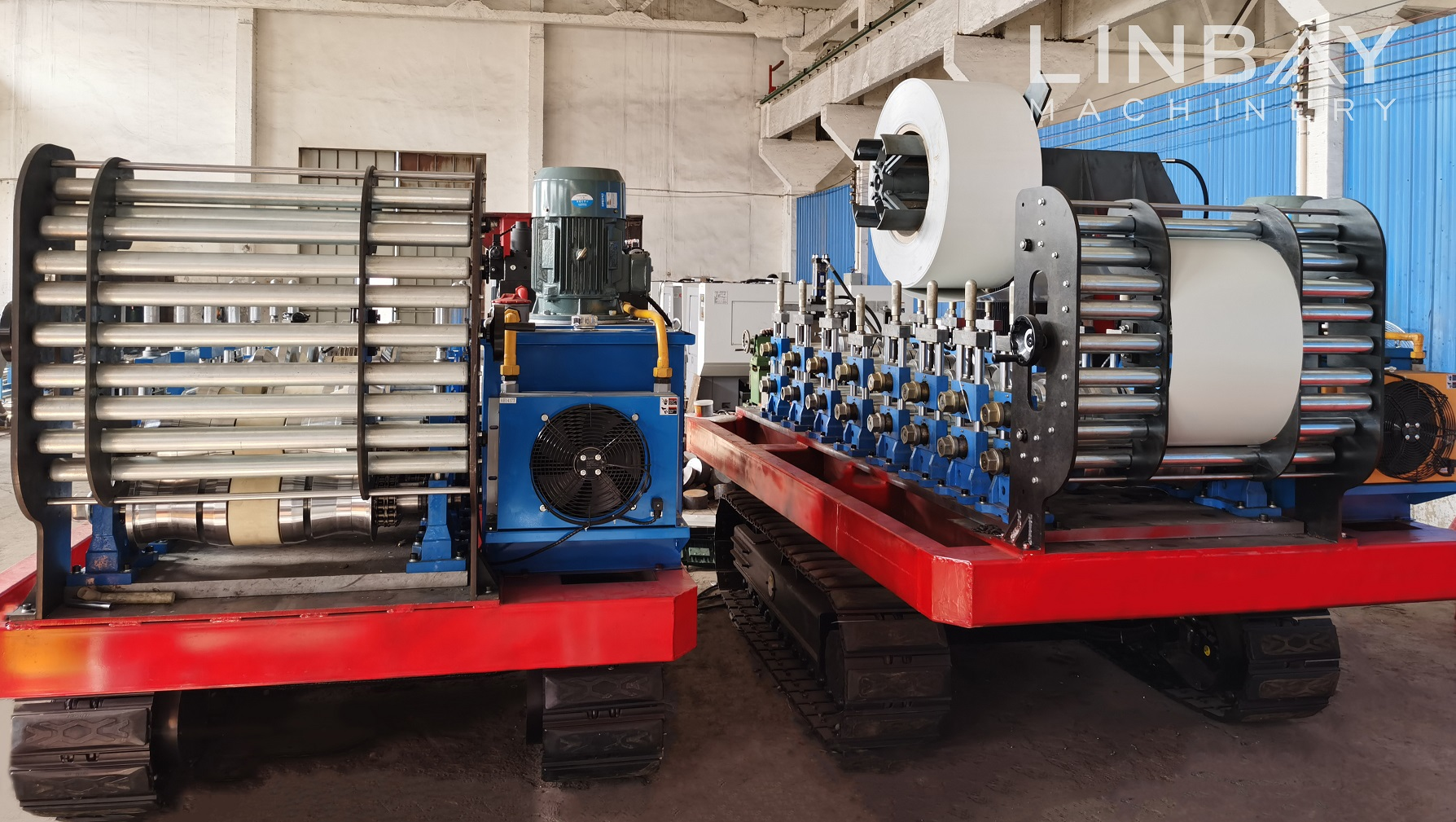 100 Original Full Automatic Metal Steel Roofing Rain Gutter Roll Forming Machine China Wuxi Linbay Machinery