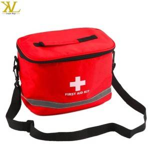 Red Backpack For First Aid Kits Box Empty Bags