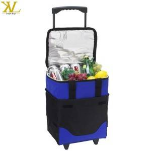 Large Capacity Collapsible Insulated Trolley Cooler Box