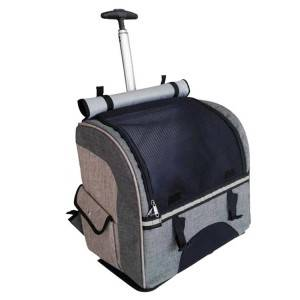 Custom Dog Cat Backpack Pet Travel Rest Carrying Trolley Bag