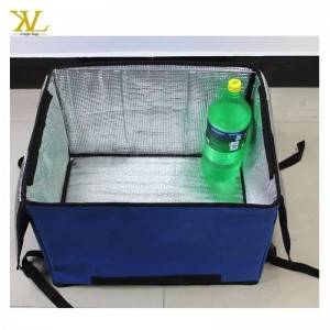 China Factory Red Insulated Food Delivery Cooler Bag
