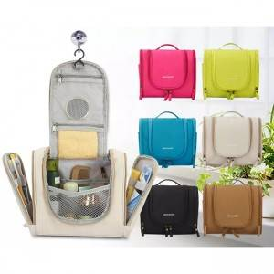 Multifunction cosmetic bag portable makeup train case, hanging cosmetic bag