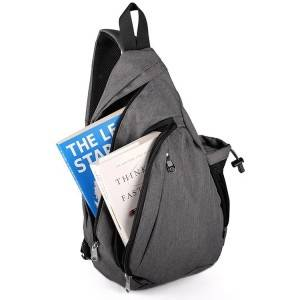 Sport Travel Shoulder Sling Bag Backpack, Multipurpose Daypack Book Bag for Men & Women, Triangle Messenger Bag