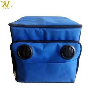 Custom Rolling Lunch Cooler Box Bag Insulated Thermal With Radio Speaker, Cooler Trolley With Wheels