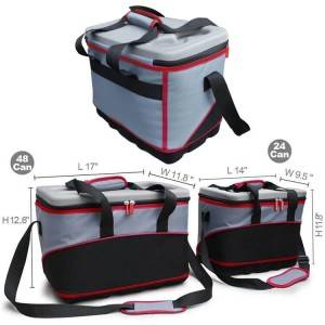 Outdoor Larger Capacity 24 And 48 Cans Eva Molded Cool Carry Cooler Tote Bag