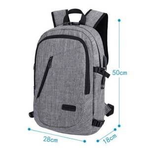 China BSCI Supplier 17 inch Laptop Backpack with USB Port, Waterproof backpack laptop bags