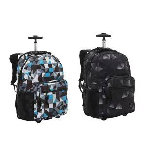 OEM Printed Bagpack Laptop Trolley School Bag, Trolley Backpack with Wheels