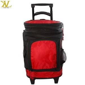 Deluxe Durable Trolley Cool Bag, Promotion Rolling Picnic Insulated Cooler Bag