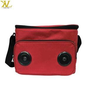 Outdoor Insulated Cooler Bag With Speaker, Bluetooth Mp3 Speaker Cooler Picnic Lunch Bag
