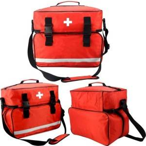 Waterproof Emergency Medical First Aid Bag For Home Visit, First Aid Kit Bag