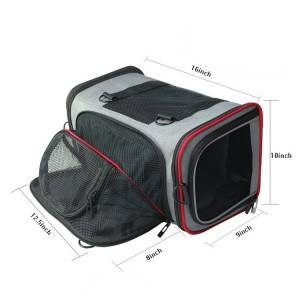 Premium Airline Approved Expandable Pet Backpack Dog Carrier Bag