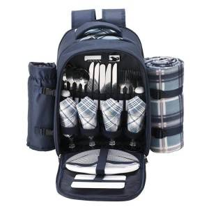 4 Person Outdoor Insulated Picnic Time Cooler Compartment Backpack Bag, Lunch Cooler Bag