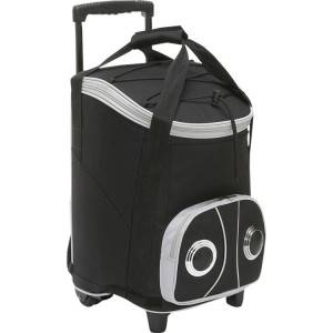 Trolley cooler bag with speaker