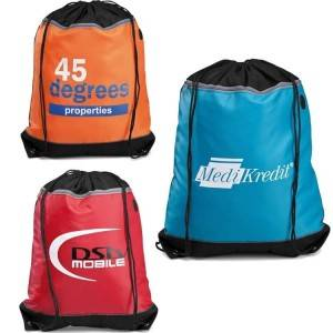 Two compartment Gym Sack Drawstring Bag, Sports drawstring bag