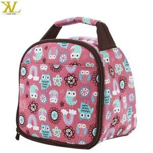 Kids' Insulated Lunch Bag with Exterior Pocket and Full Zip Closure, Versatile School Lunch Box for Girls