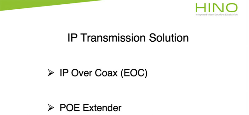 IP Transmission Solution