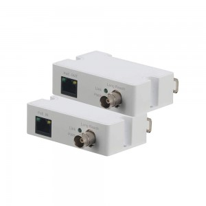 PoE IP Over Coax Converter to Transmit Power and Ethernet Data over Coaxial Cable