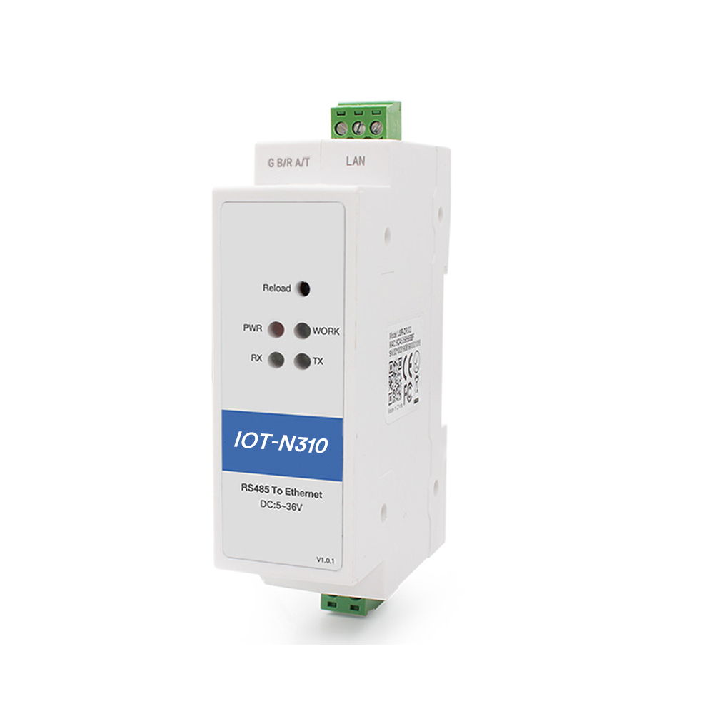 Serial Device Server to Convert 1-Port RS485 to Ethernet with DIN Rail and Compact Design