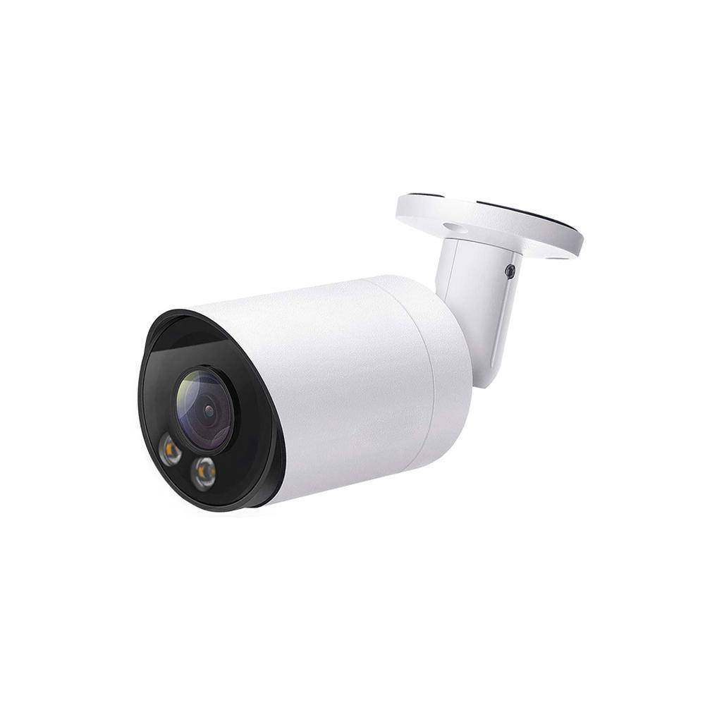 8MP Color Night Vision POE IP Bullet Camera with Warm White LED Full Metal Housing (IPC208C)
